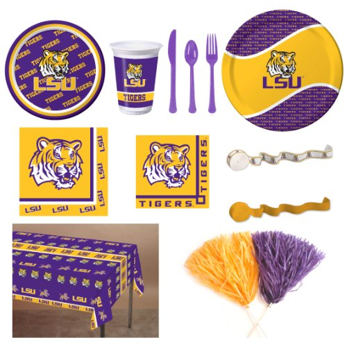 LSU Party Kit for 8 Guests at Amazon.com