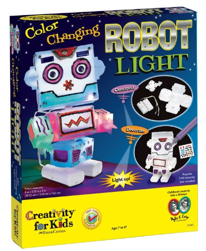 Creativity For Kids Color Changing Robot Light front-216825