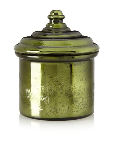 Etched Evergreen Scented Candle, Antique Green