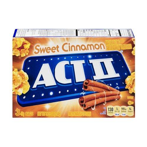 Act Ii Microwave Popcorn Sweet Cinnamon , 8.25 Oz (Pack Of 4)