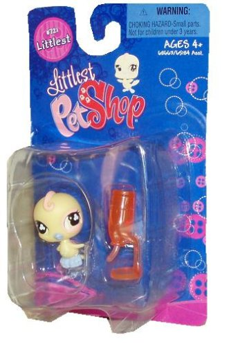 Littlest Pet Shop Single pack Yellow bird #721 with water feeder