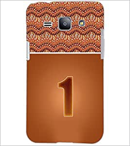 PrintDhaba Numerology Number 1 D-3633 Back Case Cover for SAMSUNG GALAXY J1 (Multi-Coloured)