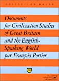 echange, troc François Portier - Documents for civilization studies of Great Britain and the english speaking world