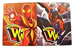 Marvel Ultimate Spiderman Web Warriors 2 Folder Set Iron Spider, Spidey With Spider Man 2099