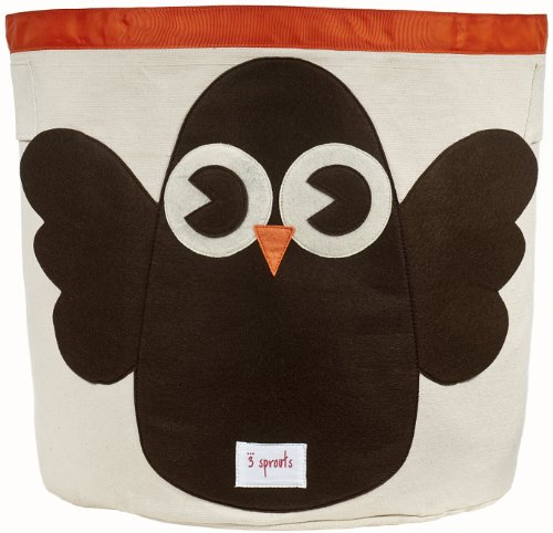 3 Sprouts Storage Bin, Owl front-830160