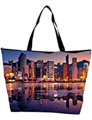 Snoogg Abstract Buildings Designer Waterproof Bag Made Of High Strength Nylon - B01I1KH8VO