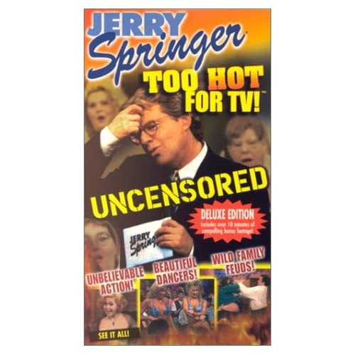 Amazon.com: Jerry Springer:Too Hot for TV [VHS]: Jerry Springer, Angel
