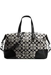 New Authentic COACH Hadley Signature Black/White Satchel & Shoulder Bag