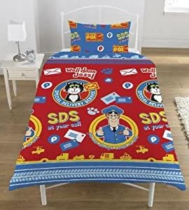Postman Pat Special Delivery Service Single Duvet Cover And Pillowcase