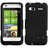 HTC Radar 4G Rubberized Hard Case Cover - Black