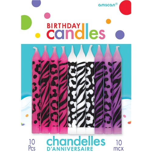 Amscan Animal Candle Set, Multicolor