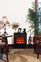 Yosemite Home Decor DF-EFP545 21-Inch Cronus Electric Fireplace Stove with Faux Wood Logs