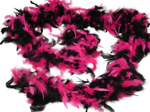Hot Pink & Black Chandelle Boa