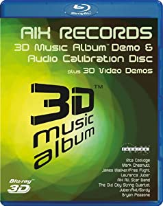 3D Music Album - Demo & Audio Calibration Disc (3D Blu Ray) [Blu-ray]