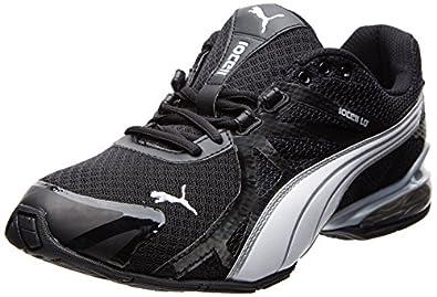 PUMA Men's Voltaic 5 Cross-Training Shoe,Black/White/Puma Silver,7 M US