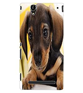 ColourCraft Cute Puppy Design Back Case Cover for SONY XPERIA T2 ULTRA