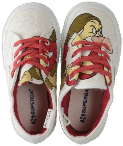 Superga, Cartoon 2750-Disney BRONTCOBJ, Scarpe basse, Unisex - bambino, Bianco (909 Brontolo white), 25