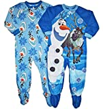 Disney Frozen Set of 2 Olaf Little Boys Blanket Sleeper Pajamas (4T)