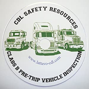 CDL: Class B Pre-Trip Vehicle Inspection Test DVD