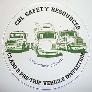 CDL: Class B Pre-Trip Vehicle Inspection Test DVD