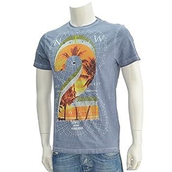 (ガス ジーンズ) GAS jeans SCUBA/S 「2」ナンバリングプリント アートTシャツ グレー Lサイズ [並行輸入品]