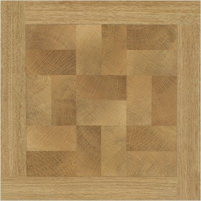 "Paramount 16"" x 16"" Vinyl Woodtone Parquet Design Tiles (Set of 6)"