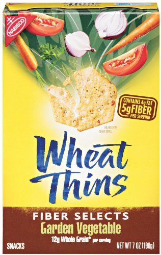 Wheat Thins Fiber Selects Garden Vegetable, 7-Ounce (044000030452)