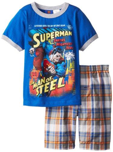 Dc Comics Little Boys' Superman Short Set, Nautical Blue, 5 front-526926