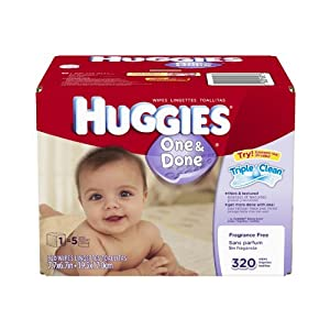 Huggies One and Done Fragrance Free Baby Wipes Refill (960 Count)