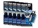 Trace Me Luggage Tracker Traceable Luggage ID Tag 5-pack