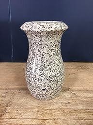 Classic Gray Granite Monument Vase Cemetery Headstone Tombstone 7x4-D