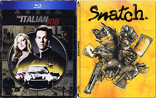 Snatch & The Italian Job Steelbook Exclusive Limited Edition [Blu-ray] metal Set (Italian Job Blu Ray compare prices)