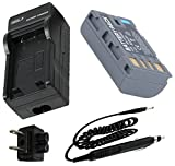 Battery + Charger for JVC Everio GZ-MG130, GZ-MG230, GZ-MG330, GZ-MG360 Camcorder