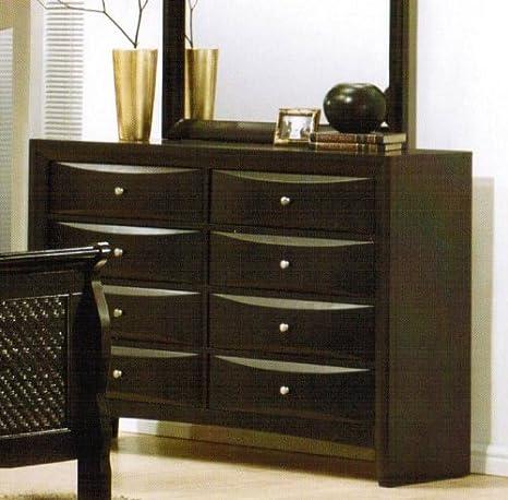 Storage Dresser with Drawers - Black Finish