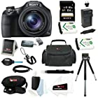Sony DSC-HX400V/B DSCHX400V HX400V 20.4MP High Zoom Point and Shoot Camera + Sony 64GB SDHC Memory Card + Focus Camera Carry Case + Replacement NP-BX1 Battery and Charger for Sony + Accessory Kit