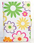 Rainbow Color Flowers Daisy Fabric Style MoboGadget E-Book Reader Barnes and Nobles BN Nook Color / Tablet Book Style Case with Pocket Sleeve + Pen Holder + Card Slots
