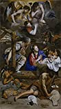 'Maino Friar Juan Bautista Adoration Of The Shepherds 1611 13 ' Oil Painting, 20 X 36 Inch / 51 X 92 Cm ,printed On High Quality Polyster Canvas ,this Best Price Art Decorative Prints On Canvas Is Perfectly Suitalbe For Living Room Gallery Art And Home Decoration And Gifts