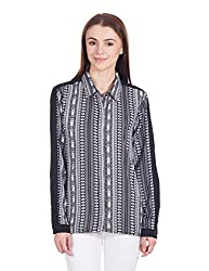 Femella Women's Button Down Shirt (DS-628615/409/BAW/M)