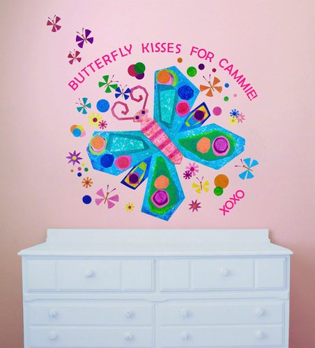 Oopsy Daisy Jewel Butterfly Peel and Place Wall Art, 54 by 45