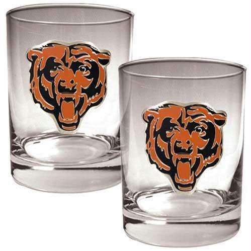 Nfl Chicago Bears Two Piece Rocks Glass Set - Primary Logo