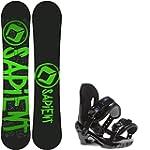 Sapient Yeti 138 Youth Snowboard + Mo...