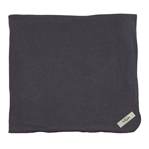 "My Blankee Organic Cotton  Jersey Knit Swaddle Baby Blanket, 47"" X 47"", Charcoal"