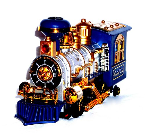 Spielzeug eisenbahn lokomotive lok train zug mit qualm