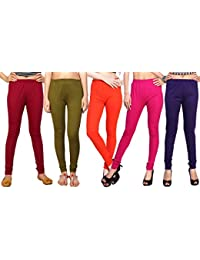 Comix Cotton Hosiery Fabric Women Legging Combo Set Of 5 - B01KOBTK7I