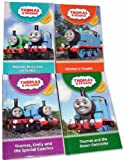 Various Thomas Thank engine Children Story 4 Books Pack (TV Series) Set Collection ( Thomas, Percy and the funfair, Thomas in Trouble, Thomas and the Green Controller, Thomas, Emily and the Special Coaches ) (Thomas & Friends Collection)
