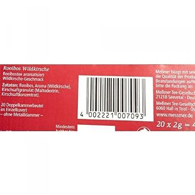 Meßmer Rooibos Wildkirsche 20 Teebeutel - 12 Packungen von Meßmer bei Gewürze Shop
