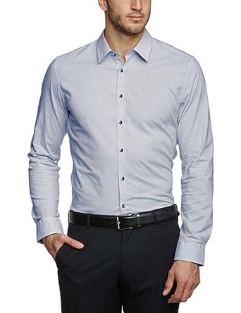 Seidensticker Herren Businesshemd Slim Fit 570506 UNO SUPER SLIM, Gr. 37, Blau (18 - blau)