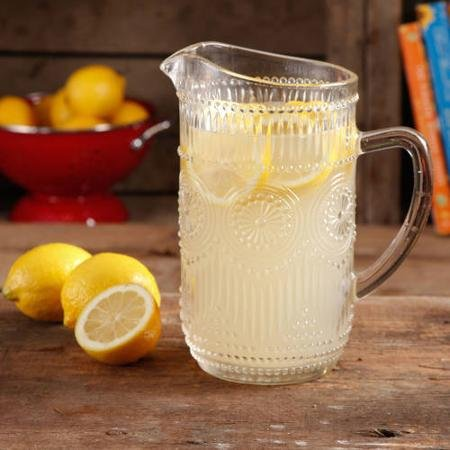 The Pioneer Woman Adeline 1.59-Liter Clear Glass Pitcher, Dishwasher Safe (Kool Aid Man Pitcher compare prices)