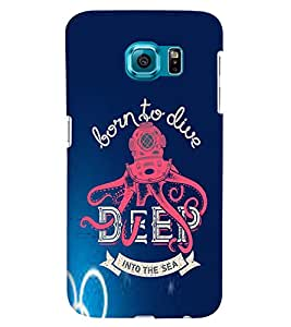 PRINTVISA Quotes Diver Case Cover for Samsung Galaxy S6