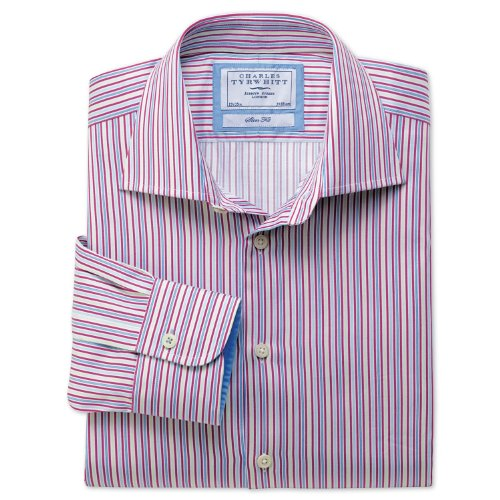 Charles Tyrwhitt Berry multi stripe business casual slim fit shirt (16 - 33)